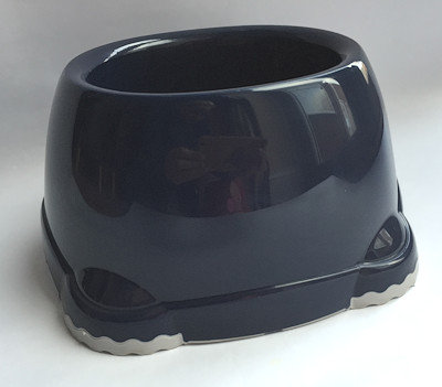Plastic Spaniel Bowl - Blue / Grey