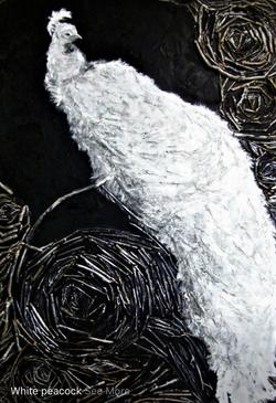 Art of Mixed Media- White Peacock 2