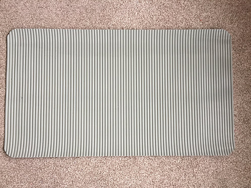 Grooming Table Mat - Grey Wide Ribbed