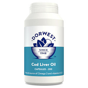 Cod Liver Oil Capsules for Dogs & Cats (200 caps)