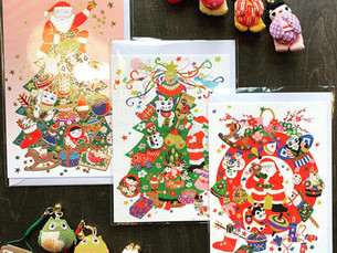 Christmas cards in Japanese style