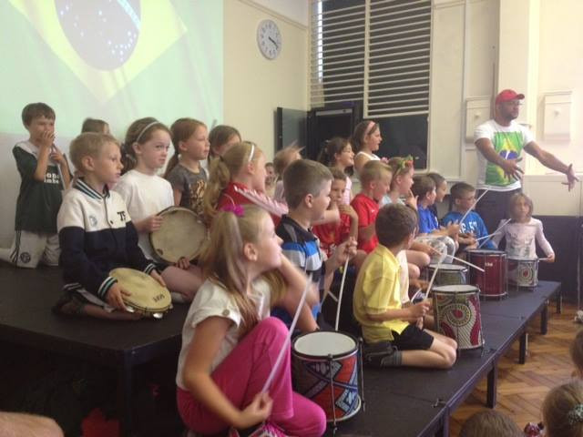 Samba drumming workshops for primary schools