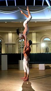 Acrobats dancers