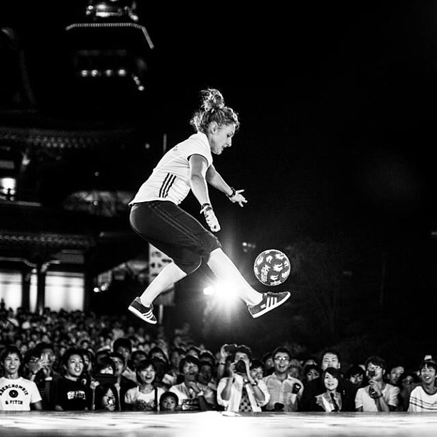 Kitti Szasz Based in Hungary - Female Football Freestyler
