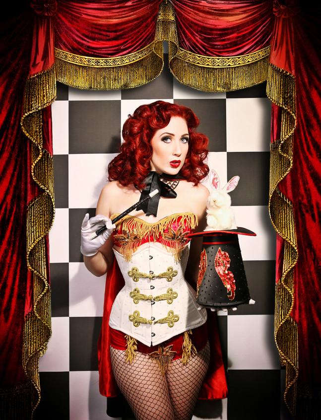Ginger girl magician
