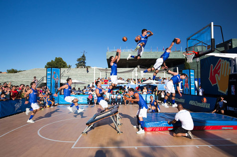 Hire Acrobatic Basketball Entertainment Freestylers - Available Worldwide | Red Panda Agency Enterta