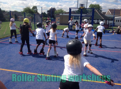 Roller skating workshops for primary and secondary schools   Red Panda Workshops