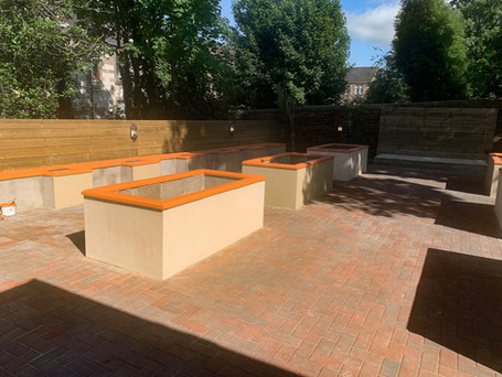 We are very excited to share more pictures of the community garden progress - It's nearly finished!