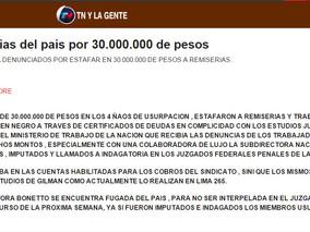 Estafa a Remiserias del pais por 30.000.000 de pesos TN