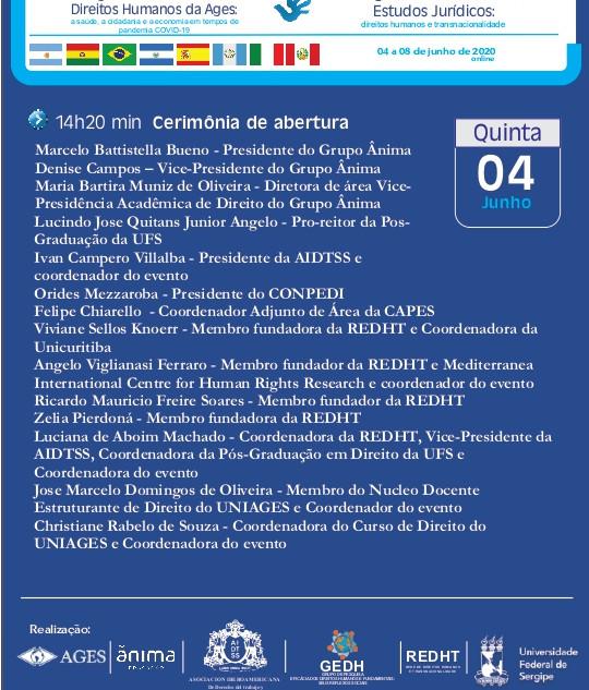 Congresso - AGES- ÂNIMA - REDHT - AIDTS