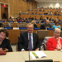 AS attending a UN conference on Holocaus