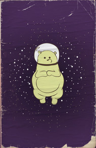 Space Bear Poster