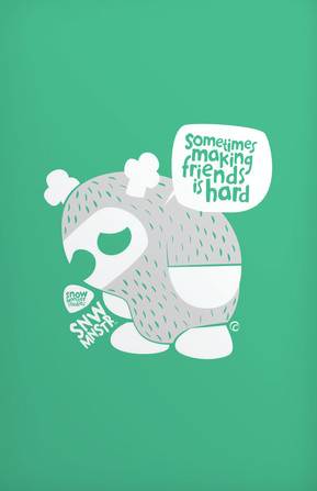 Sad Snow Monster Poster