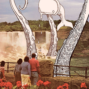 Niagra Falls Mixed Media