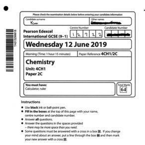 2019 GCSE Exam Papers