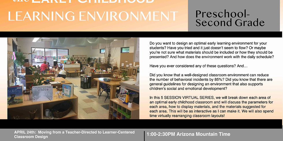 DESIGNING THE EARLY CHILDHOOD LEARNING ENVIRONMENT
