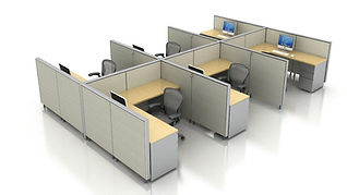 Corner Workstation cubicles