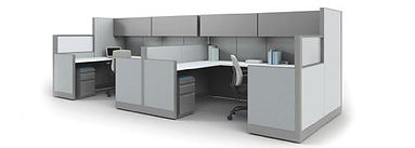 1/2 glass office cubicles