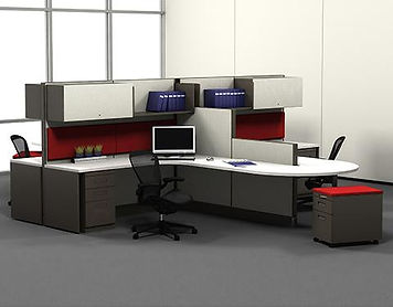 6x6 corner workstations