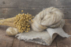 Flax fibers from flax for the manufactur