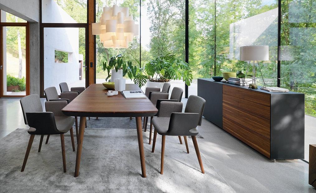 Flaye, Auszug-Tisch, Massivholz-Tisch, Team7