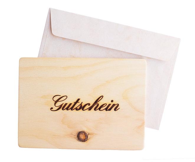 """Arvenholz """"Gutscheinkarte"""""""
