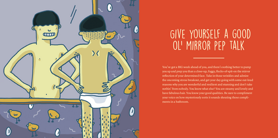 give yourself a good ol' mirror pep talk