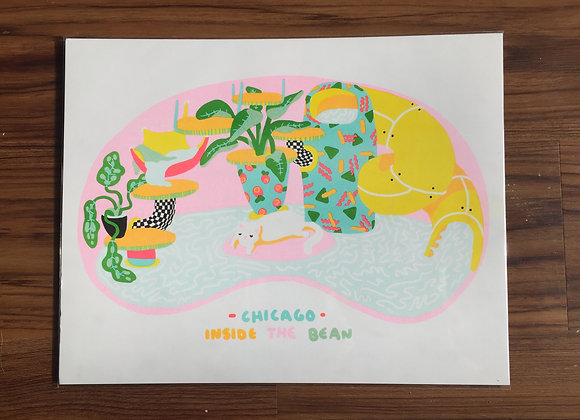 Bean Print - cat