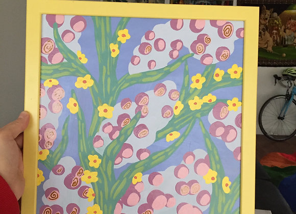 Flowers in Yellow Frame #3