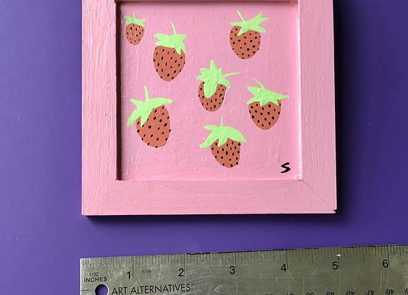 Mini Strawberry Painting