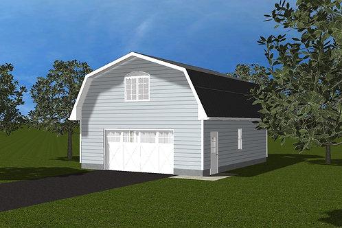 Barn Style Garage with Loft M303