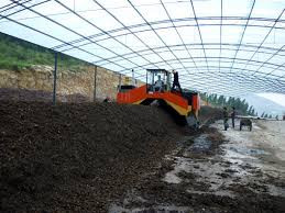 Industrial composting practices