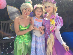 Hannah's Rapunzel, Tinkerbell and Batgirl Party