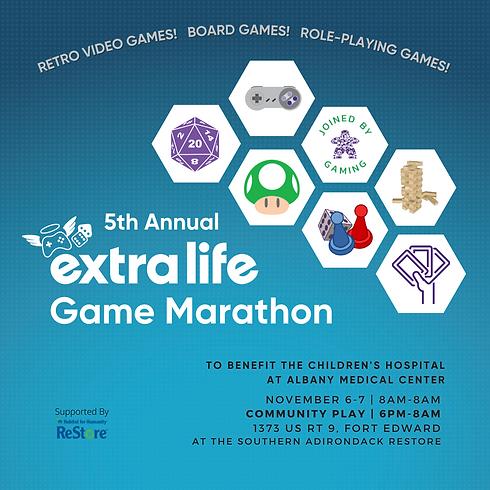 5th Annual Extra Life Game Marathon