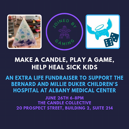 Candle Making and Games to Support Extra Life