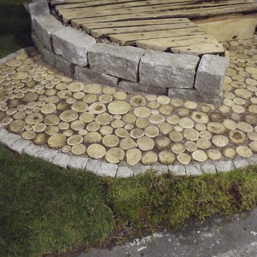 Holzpflaster aus Robinie