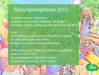 nino Permakultur - Bildungsangebote 2015