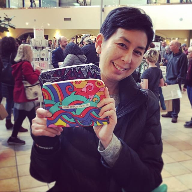 Score! A lovely friend from the museum stopped by Art Under 100 to grab some Christmas gifts, handma