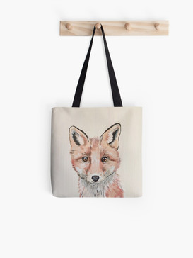 Clever Little Fox Tote Bag