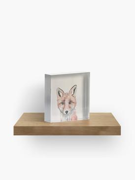 Clever Little Fox Acrylic Block