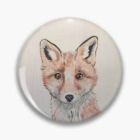 Clever Little Fox Pin Button