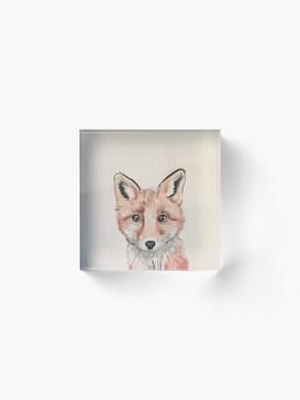 Clever Litte Fox Acrylic Block