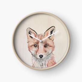 Clever Little Fox Clock