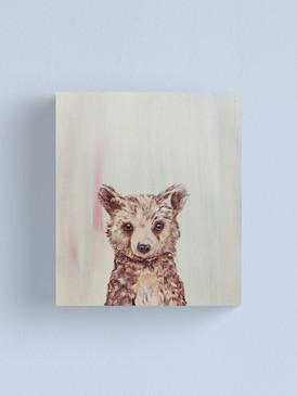 Be Brave Baby Bear Canvas Print