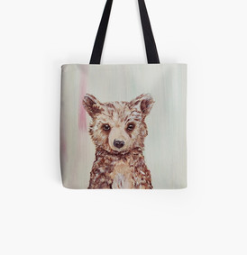 Be Brave Baby Bear Tote Bag