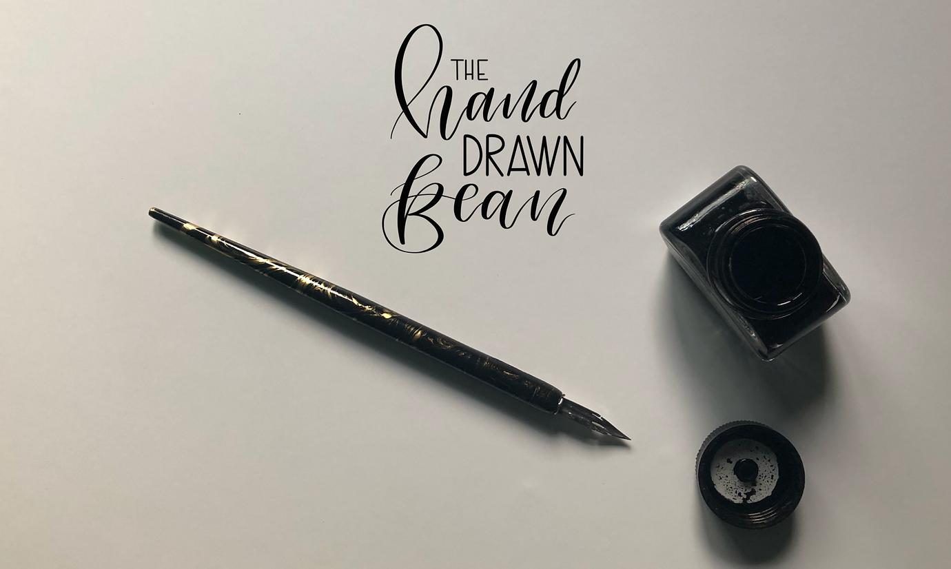 Pen and nib modern calligraphy