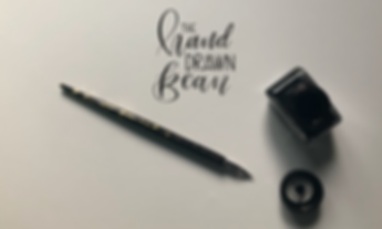Pen and nib modern calligraphy