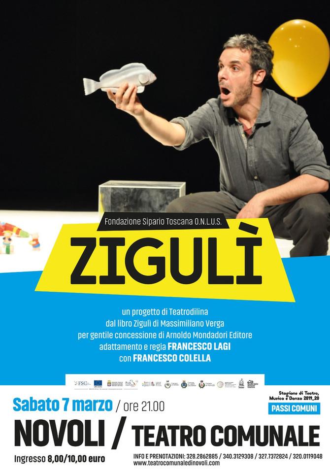 ZIGULI'  con l'attore Francesco Colella sabato 7 marzo