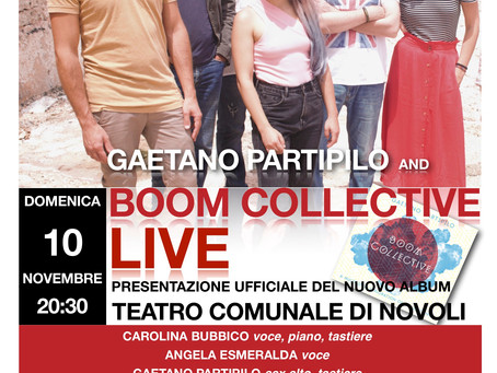 GAETANO PARTIPILO and BOOM COLLECTIVE in concerto - domenica 10 novembre