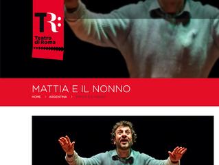 MATTIA E IL NONNO AL TEATRO ARGENTINA di Roma il 28 dicembre